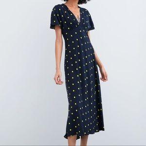 Zara Blue Polka Dot Dress